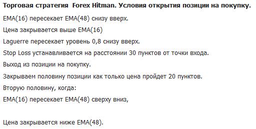 Стратегия Forex Super Hitman